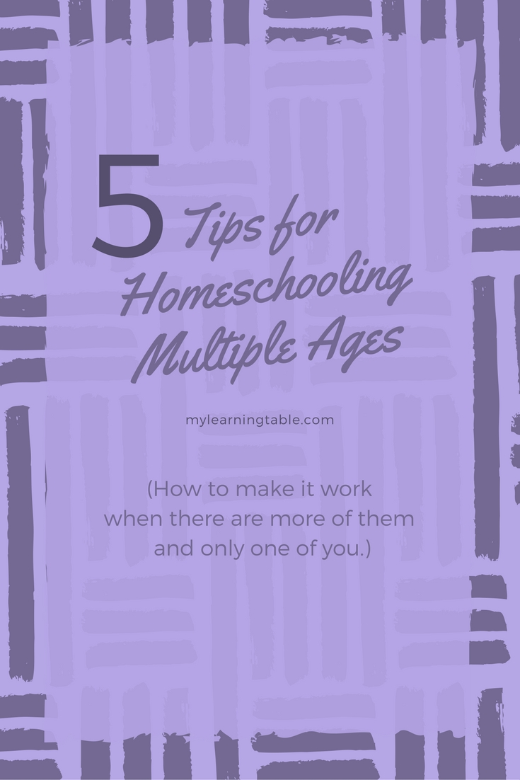 Tips for Homeschooling Multiple Ages