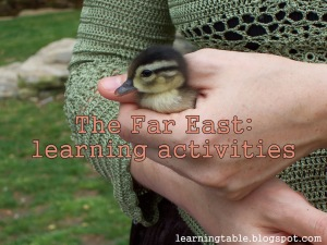 Learning activities for the Far East @mylearningtable.com