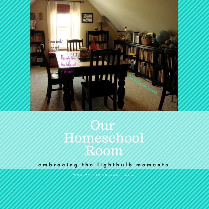 Take a tour of our homeschool room and see how we organize our school day.