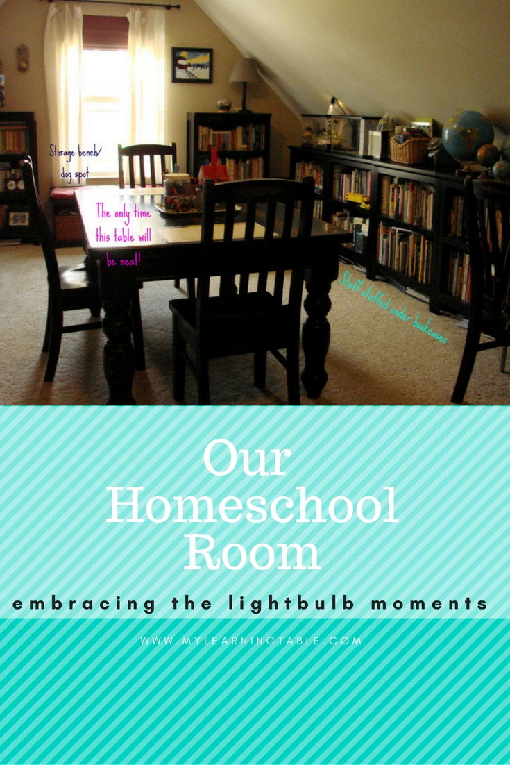 Take a tour of our homeschool room and see how we organize our school days.