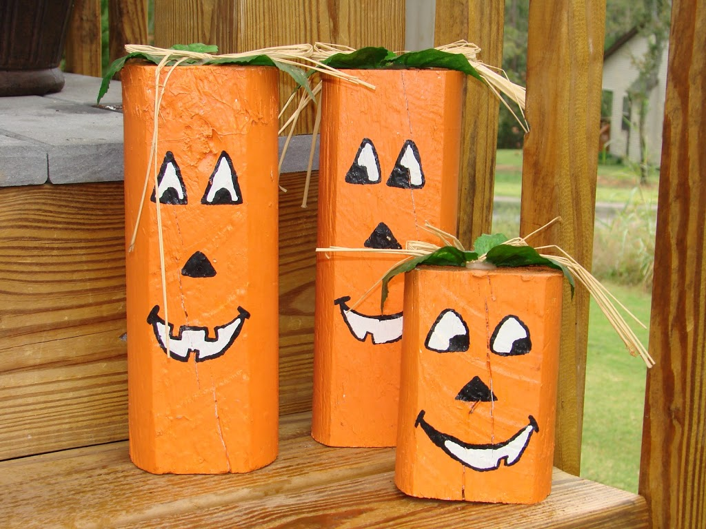 DIY PUN'KIN HEADS #fall #craft mylearningtable.com