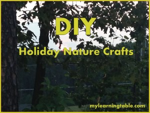 Holiday Nature Crafts DIY mylearningtable.com