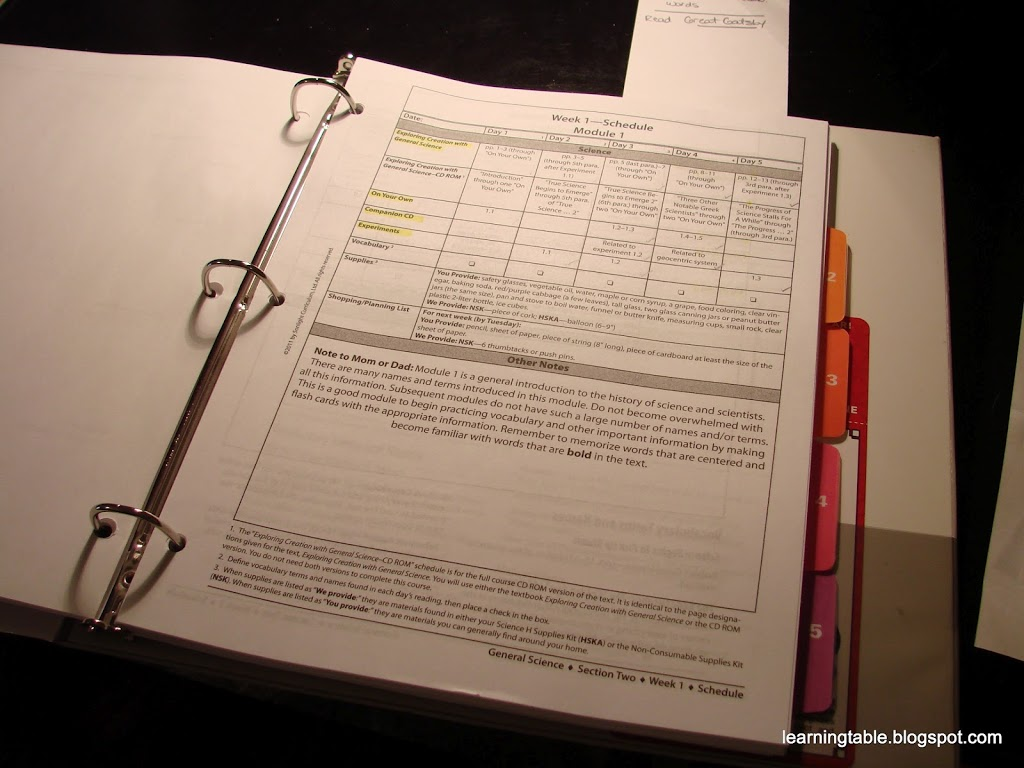 Record keeping: student assignments @mylearningtable.com