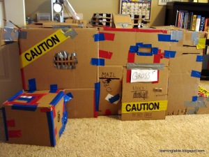DIY Cardboard Clubhouse @mylearningtable.com