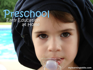 Preschool: Early Education at Home