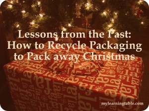 How to Recycle Packaging to Pack Away Christmas