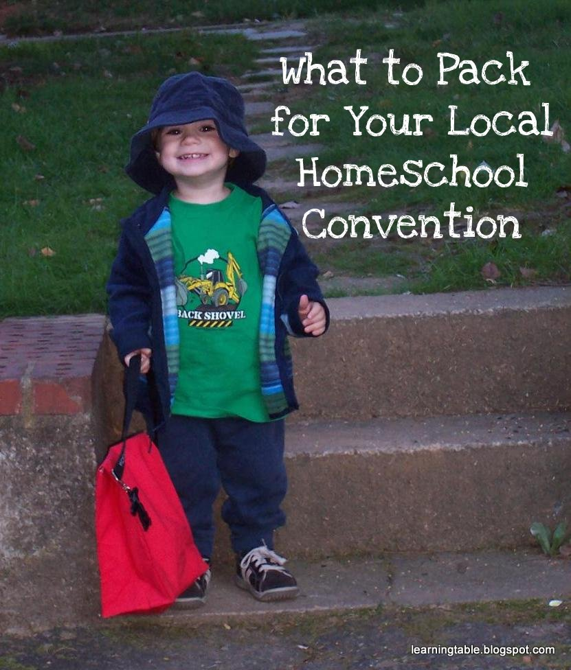 Homeschool Convention Packing Tips @mylearningtable.com