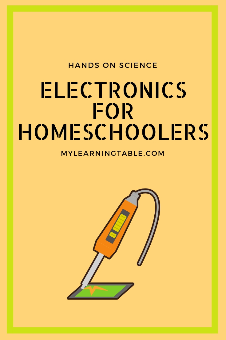 Electonics for homeschoolers is a great alternative science curriculum for out-of-the-box learners, with a flexible and multi-age format.