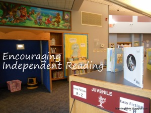 encourage independent reading @mylearningtable.com