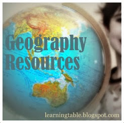Geography curriculum resources @mylearningtable.com