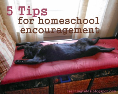 homeschool encouragement @mylearningtable.com