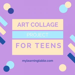 Creating an art collage can be a great pre-writing activity for all ages, and don't forget that teens can benefit from hands-on activities, too!