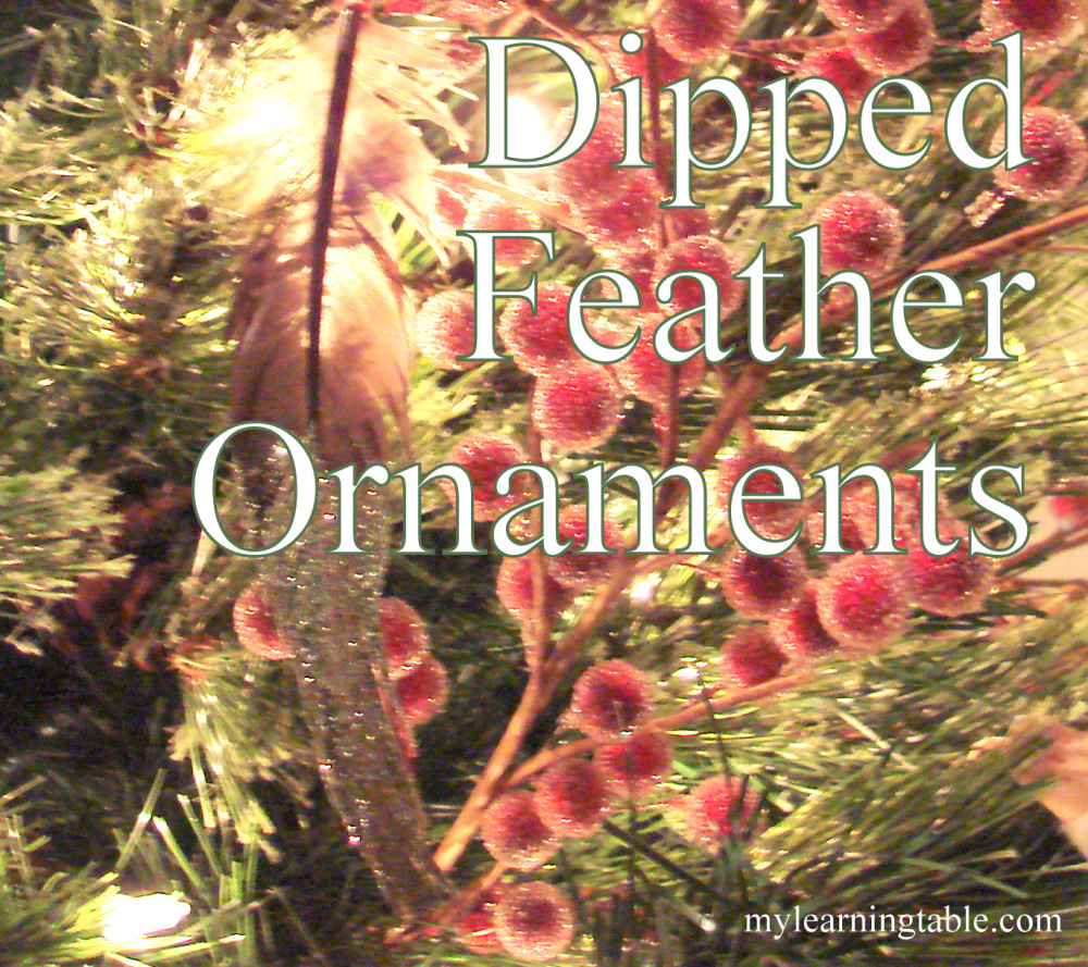 #DIY #craft feather ornaments @mylearningtable.com