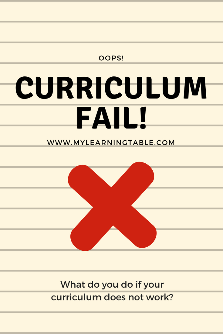 "Many homeschool parents experience stress when their curriculum does not work out. In fact, all homeschool parents probably experience a ""curriculum fail"" at least once during their journey. The thing is, no curriculum is perfect. What works with one child might not work with another."