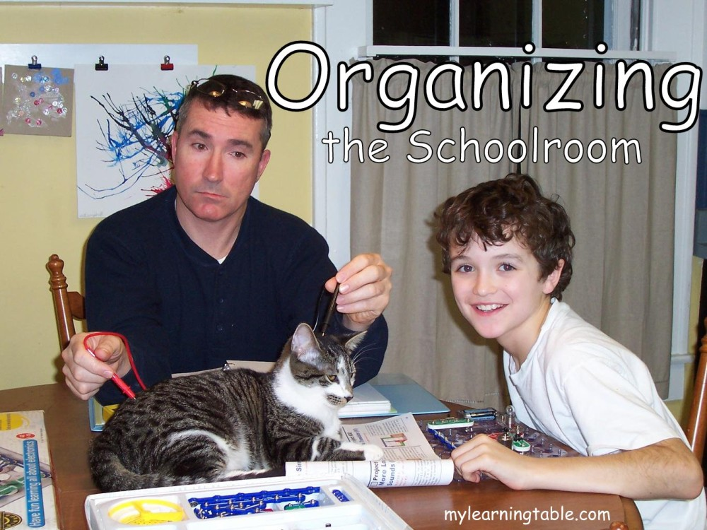 ORGANIZING THE SCHOOLROOM #homeschool #organization mylearningtable.com