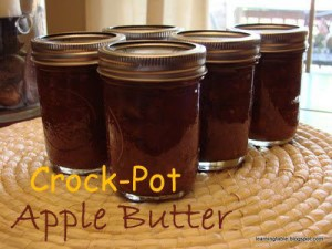 Crock Pot Apple Butter Recipe mylearningtable.com
