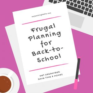 Frugal Planning for Back-to-School