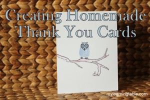 Creating Thank You Cards