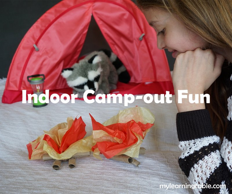 Indoor Camp-out craft DIY mylearningtable.com