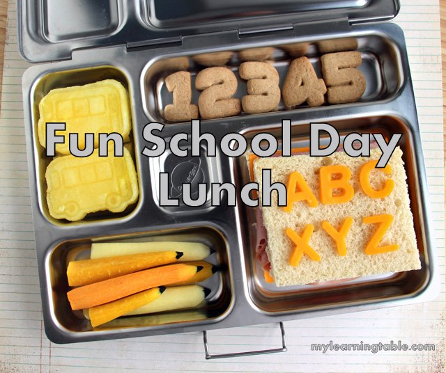 Fun School Day Lunch #homeschool BACK TO SCHOOL mylearningtable.com