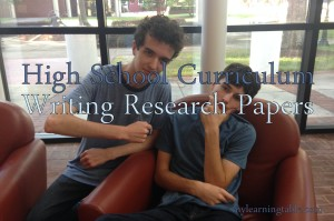High School Curriculum: Writing Research Papers mylearningtable.com