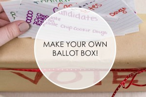 Make Your Own Ballot Box to Teach Kids about Voting mylearningtable.com