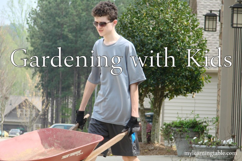 Gardening with Kids mylearningtable.com