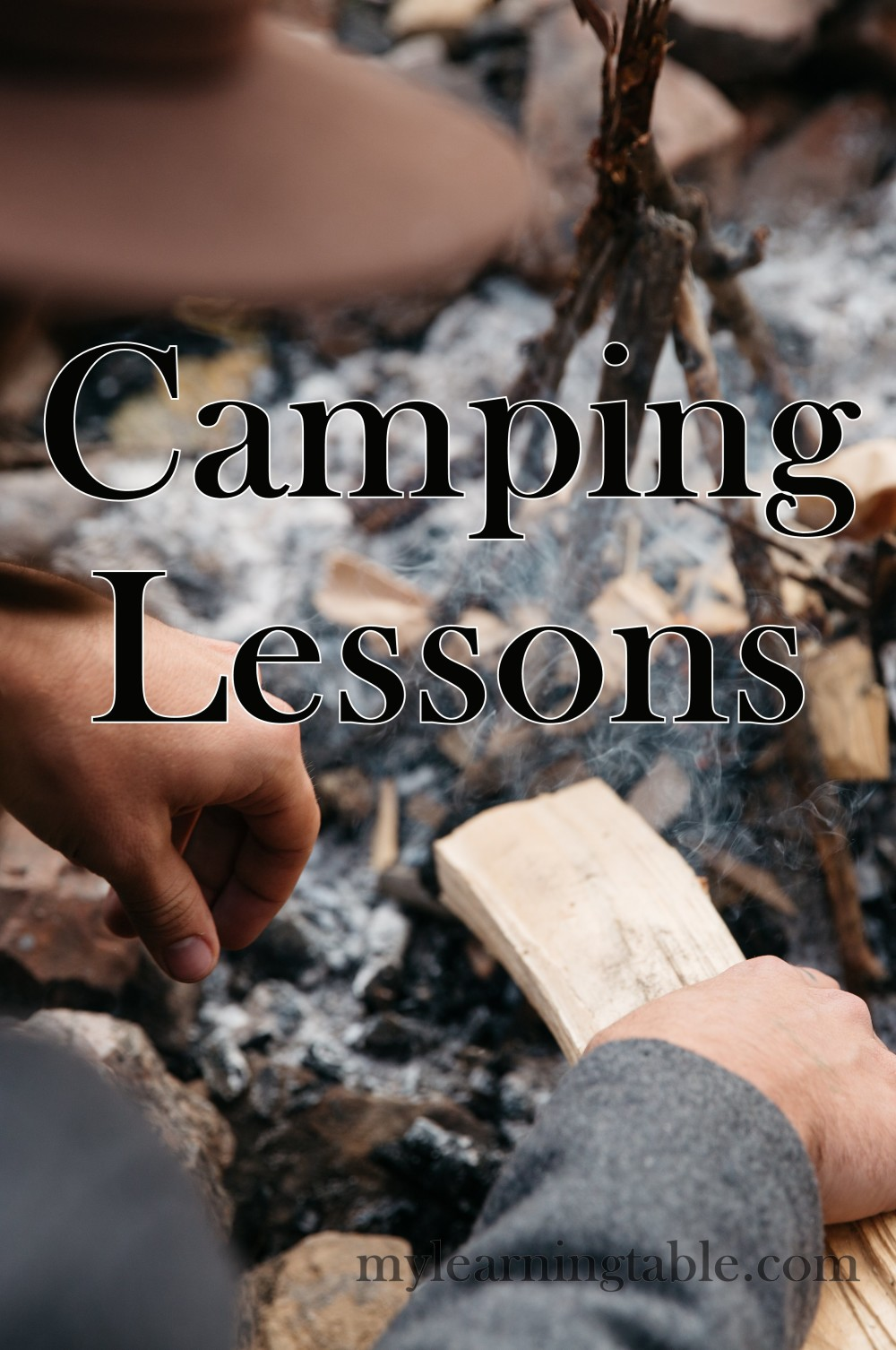 Camping Lessons mylearningtable.com