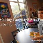 Making Language Arts Fun with a Library Scavenger Hunt mylearningtable.com