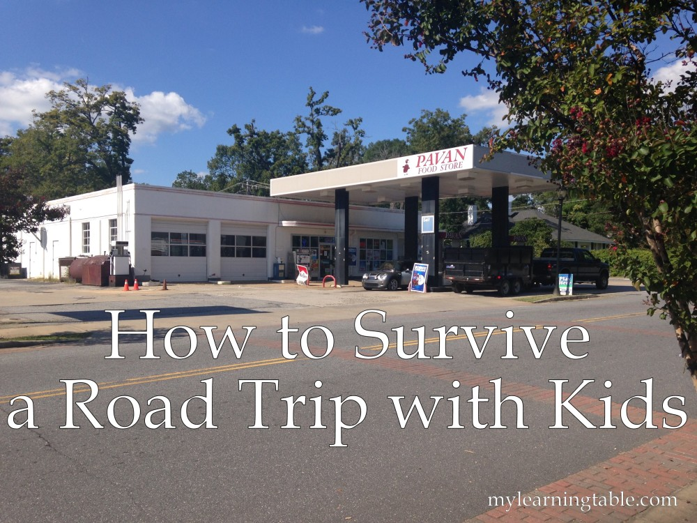 How to Survive a Road Trip with Kids mylearningtable.com