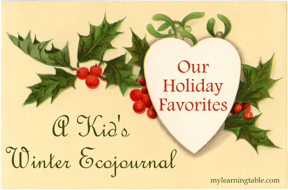 Our Holiday Favorites: A Kid's Winter Ecojournal mylearningtable.com