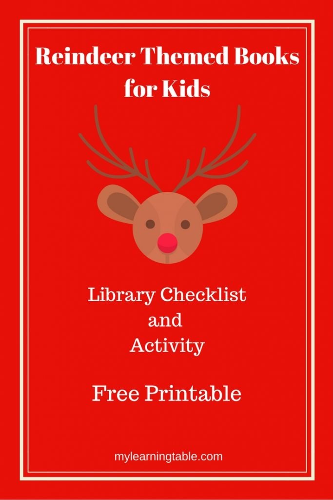 Reindeer Books for Kids mylearningtable.com