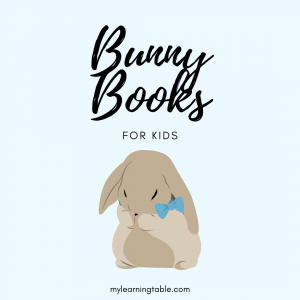 The best bunny themed books for kids, with a free printable activity