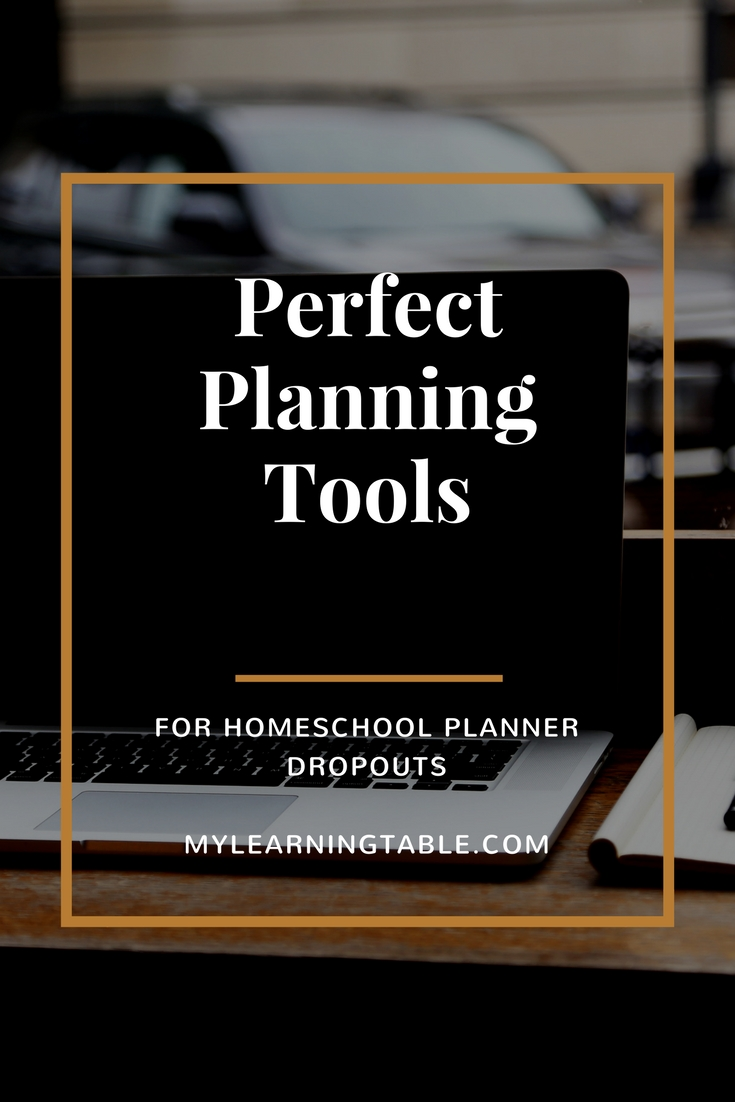 So what's a homeschool mom to do when she's a planner drop out?