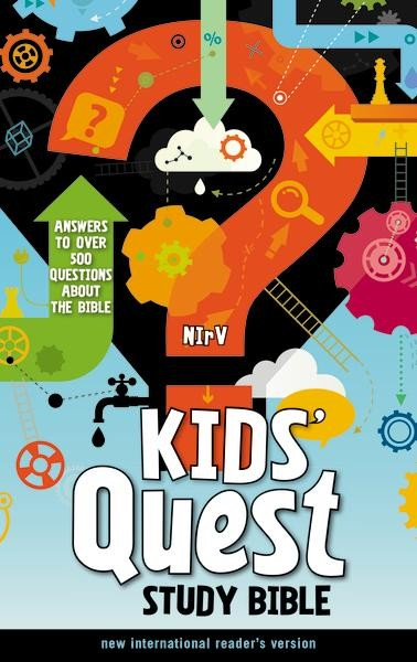 My favorite things about Kids' Quest Study Bible are the color scheme, the large type, the introductions to each book, and the glossary at the end. The large orange chapter numbers and subheadings make navigating this Bible a breeze, even for struggling readers.