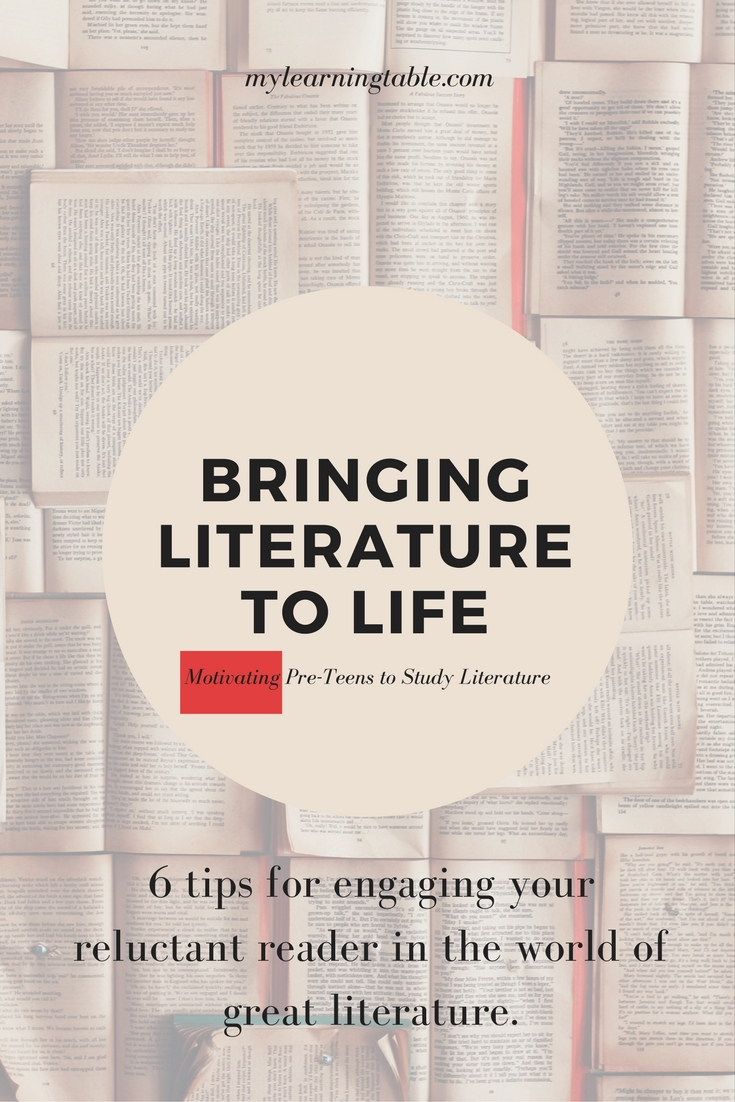 Studying literature should be a joy, and when placed in the context of everything else your preteen is learning, these personal connections will contribute to their understanding in other areas of study as they bring literature to life.
