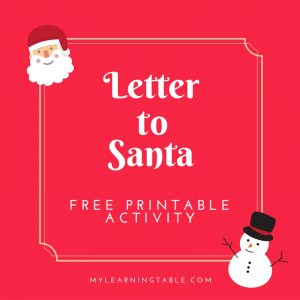 Letter to Santa Free Printable Activity