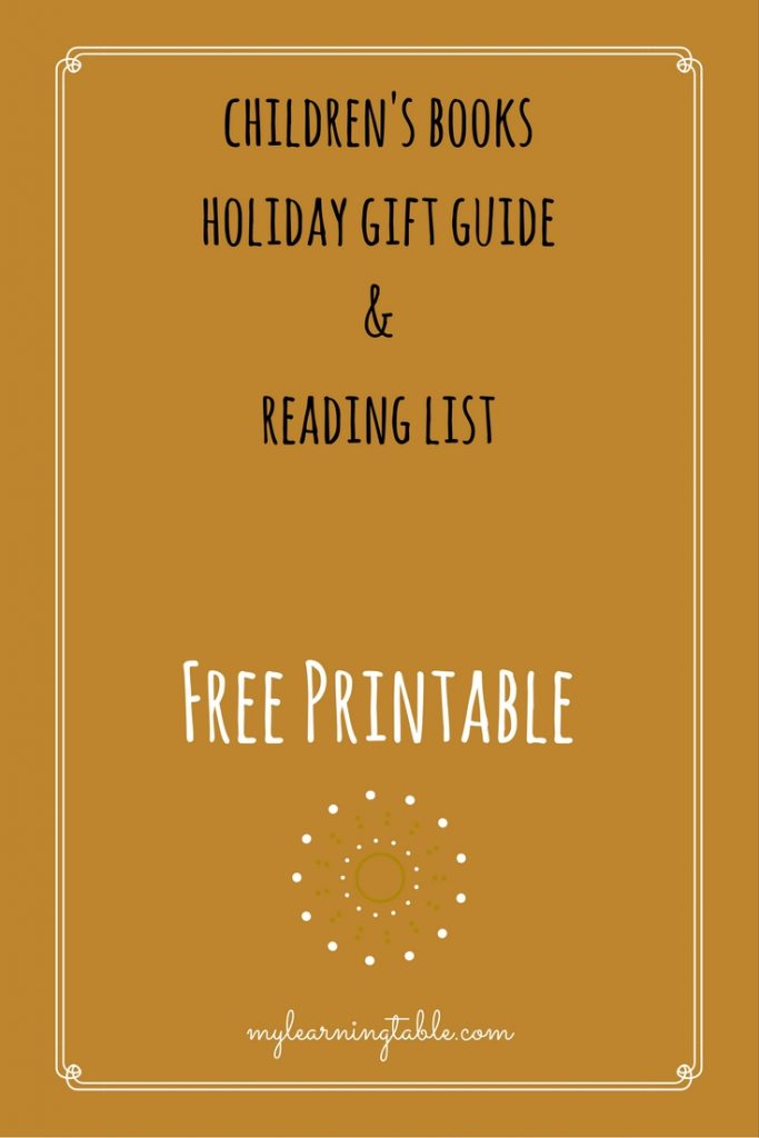 Free Printable Children's Books Holiday Gift Guide and Reading List mylearningtable.com
