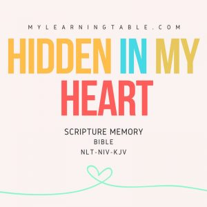 Hidden in My Heart: Scripture Memory Bible