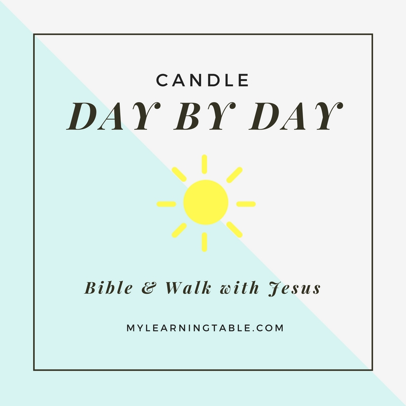 Candle Day by Day mylearningtable.com