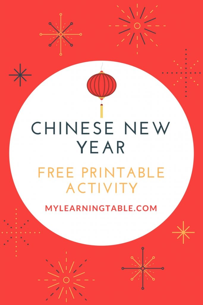 Chinese New Year Free Printable Activity mylearningtable.com