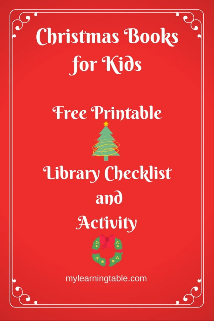 Christmas Books for Kids Free Printable Christmas Copywork and Library Checklist mylearningtable.com