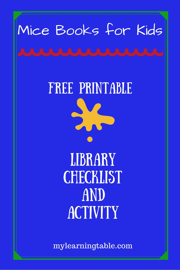 Mice Books for Kids & Free Printable Color Discovery Activity mylearningtable.com