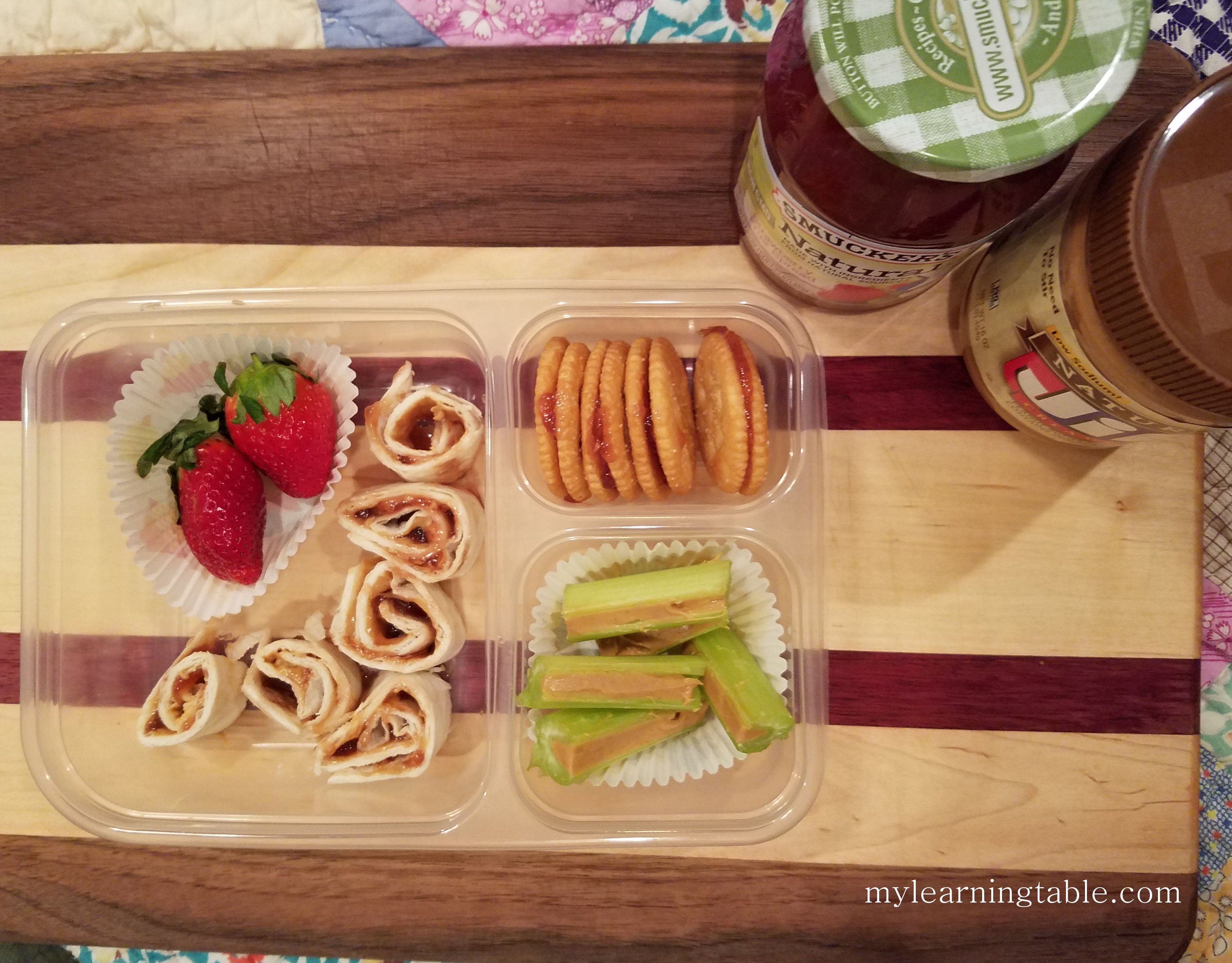 PBJ Bento Fun and Healthy School Day Lunch mylearningtable.com