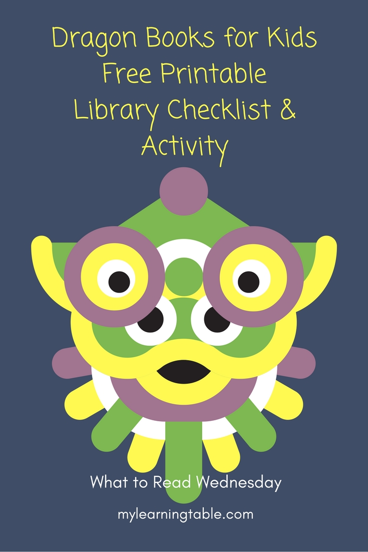 Dragon Books for Kids Free Printable Library Checklist & Activity mylearningtable.com
