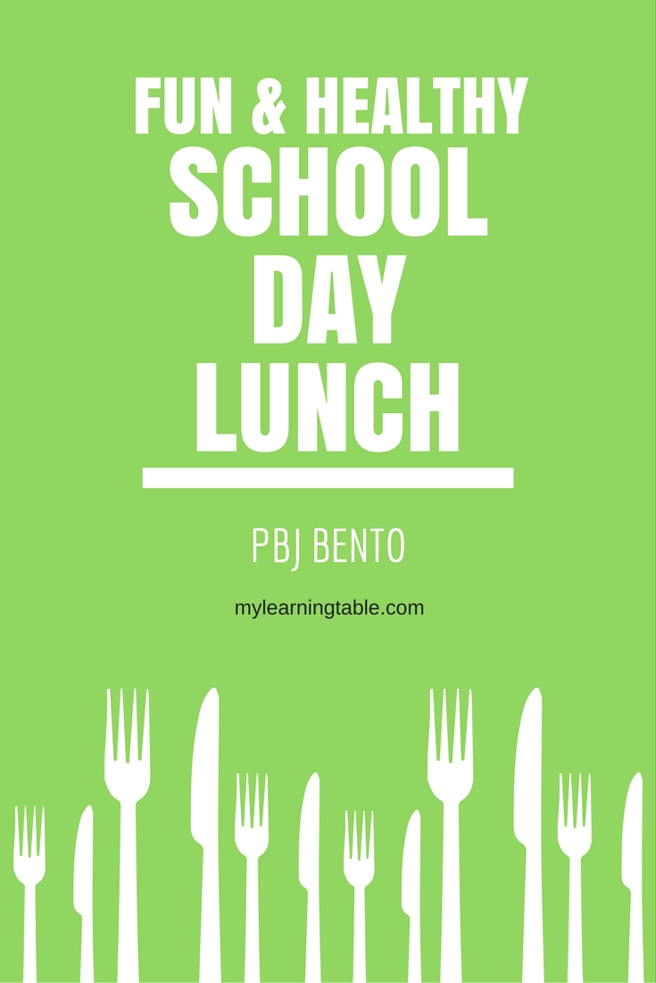 Grab a discount here (ad) https://ooh.li/77c910d and make this Fun & Healthy School Day Lunch PBJ Bento from mylearningtable.com