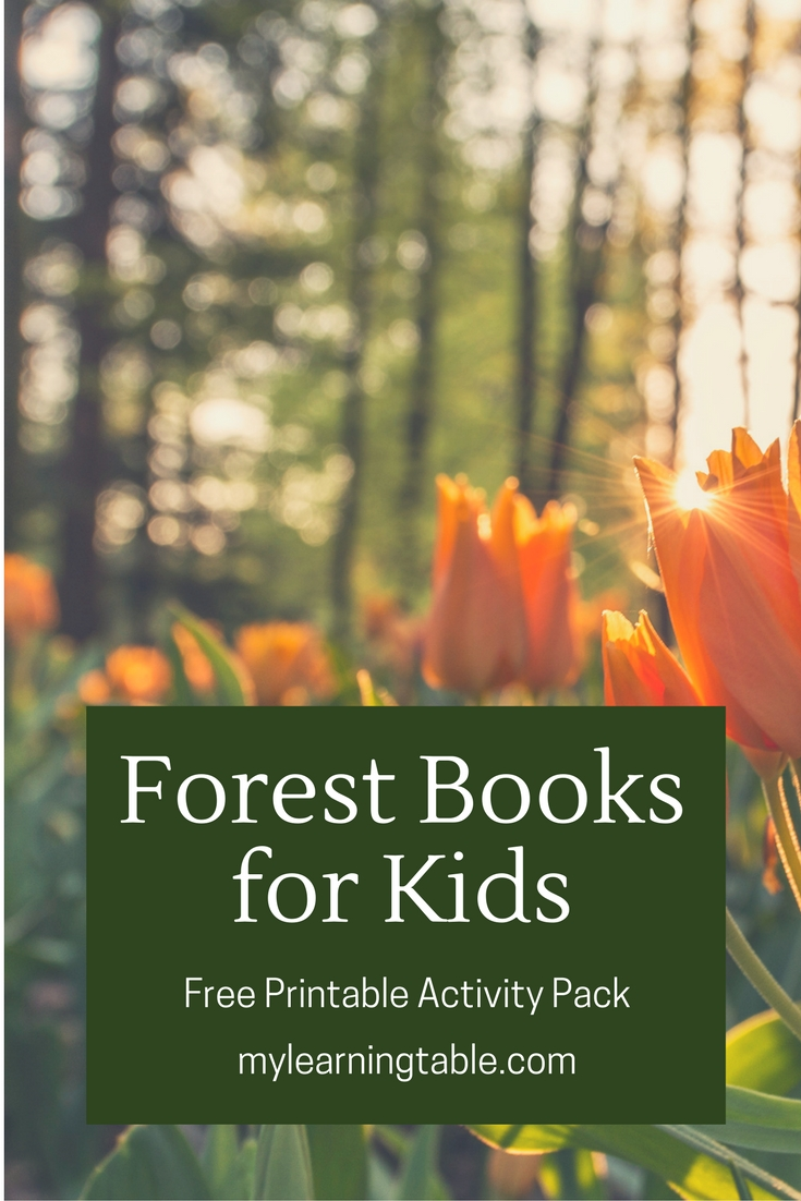 Forest Books for Kids Free Printable Activity Pack mylearningtable.com