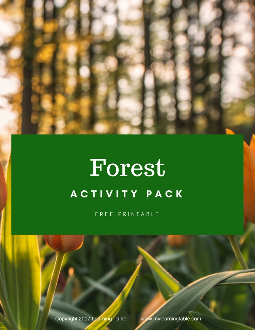 Forest Printable Pack Learning Table