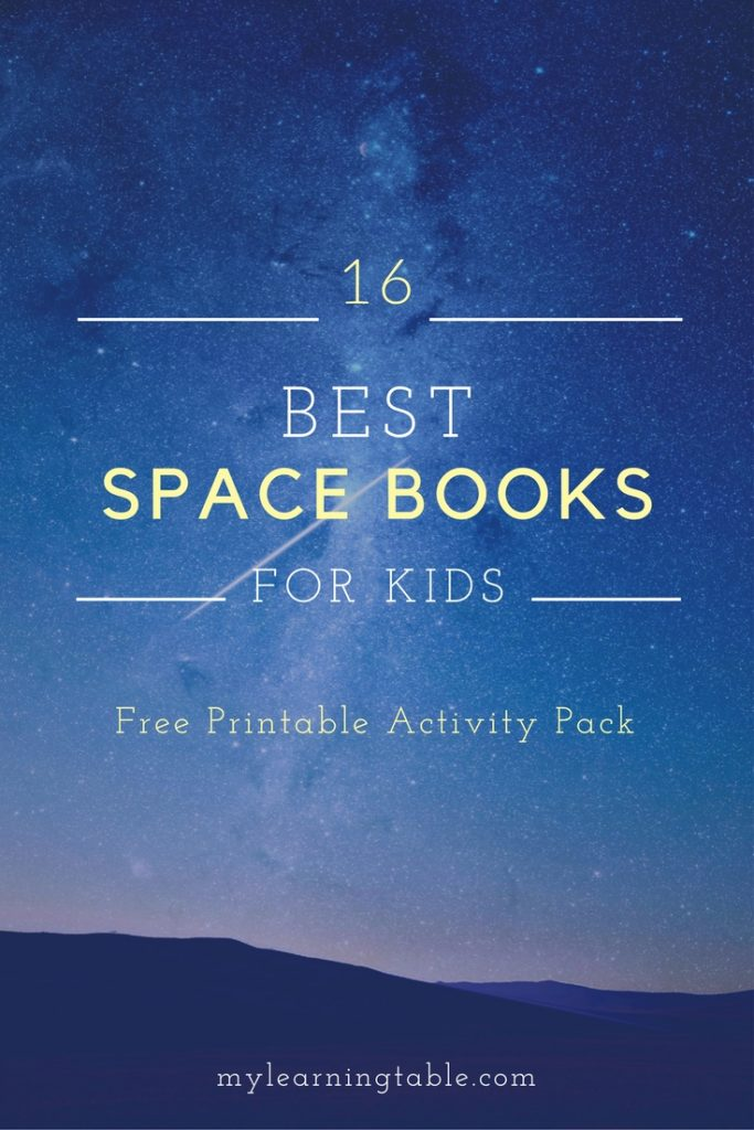 Space Books for Kids Free Printable Activity Pack mylearningtable.com