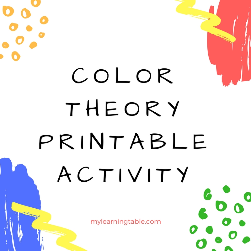 Color Theory Printable Activity on Free Mouse Paint Pack